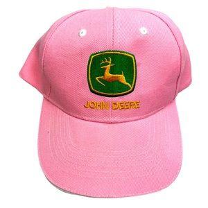 John Deere Hat Pink Baseball Hat Green Logo